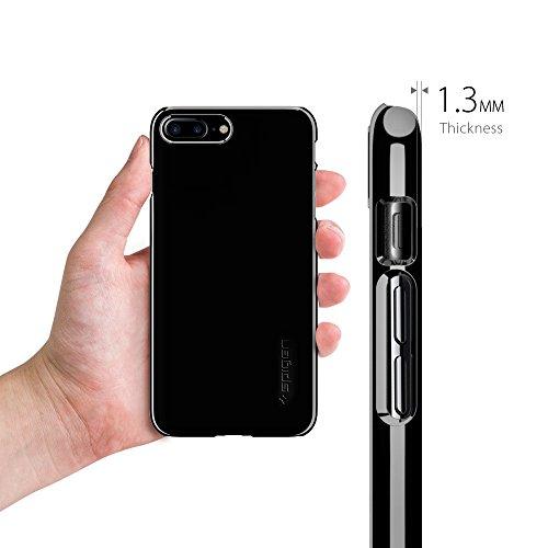 iPhone 7 PLUS Hülle, iPhone 8 PLUS Hülle, Spigen® [Thin Fit] Passgenaues [Schwarz] Premium-Case Schutzhülle für Apple iPhone 7 PLUS / iPhone 8 PLUS Case Cover - Black (043CS20471) TF Diamant Schwarz