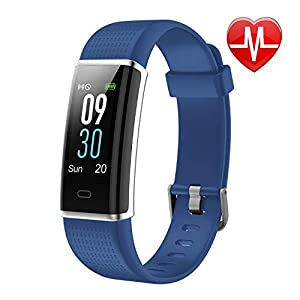LETSCOM Fitness Armband, IP68 wasserdicht Fitness Tracker mit Pulsmesser Aktivitätstracker Pulsuhren Farbdisplay 14 Trainingsmodi Schrittzähler Vibrationsalarm Sport Armbanduhr MEHRWEG