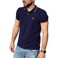 Consenso Polo Uomo T-Shirt Mezza Manica TG. M, L, XL, XXL, XXXL - Colori Assortiti (L, Blu)