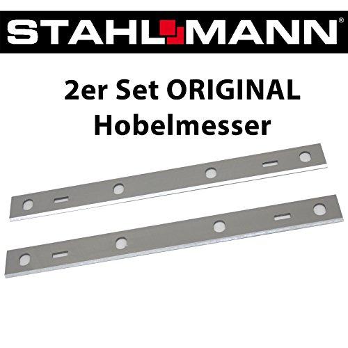 2er Set ORIGINAL Hobelmesser für STAHLMANN Hobelmaschine, 6 Loch, 210 x 20 mm