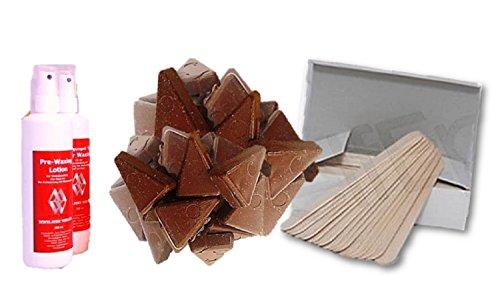 Cire chaude Kit pour épilation sans bandes dépilatoires avec cire numérique, spatule, Kit d'entretien