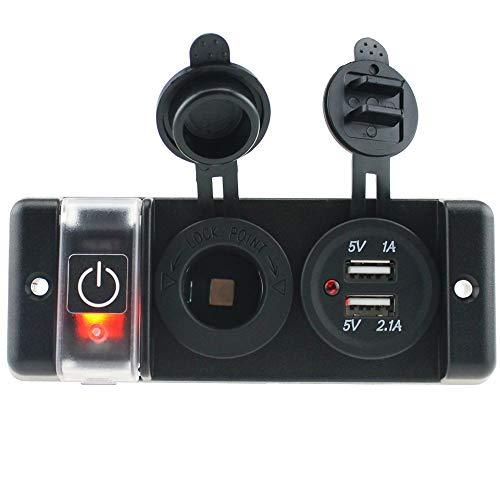 Preisvergleich Produktbild XIEWEICHAO AliExpress Ebay 12v Auto stromversorgung multifunktions Auto modifiziert Auto ladegerät eins für Zwei (Color : Black)