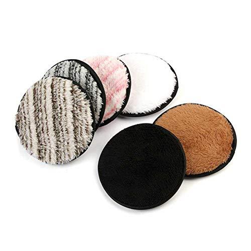 styleinside Remover Pads,Réutilisable Microfibre Tissu Démaquillant Tampons Nettoyant Visage, Hypoallergénique (pack de 6)