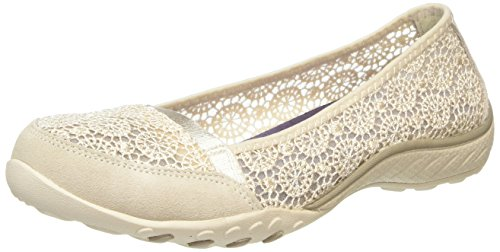 Skechers BREATHE-EASY Pretty-Factor, Damen Geschlossene Ballerinas, Beige (NAT), 39 EU