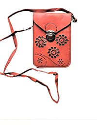 Strap Mobile Phone Bags Mini Buckle Women Leather Shoulder Bag Flower Flap Designer Small Crossbody Purse