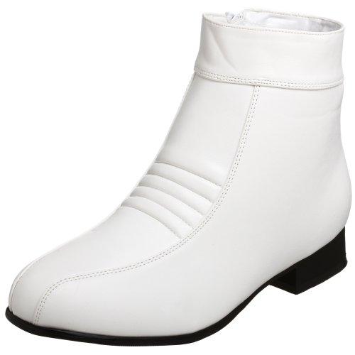 Kostüm Schuhe Pimp - Pleaser Pimp-50,  Herren Kurzschaft Stiefel, Weiß, 42/43 EU (M)