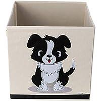 Caja de Almacenamiento / Cubo / Organizador – Diseño de Perro – Tela de Lona Reforzada