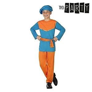 Atosa-31585 Atosa-31585-Disfraz Paje niño infantil-talla Navidad, color azul, 7 a 9 años (31585)