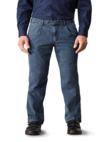 Walbusch Herren Gardeur Jeans Bundfalte Hellblau/Hellblau