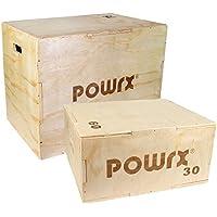 POWRX Plyo-Box - Jump Box en Bois/Pliométrie - Functional Fitness / 2 Tailles: M (60 x 30 x 50 cm) ou L (75 x 60 x 50 cm)