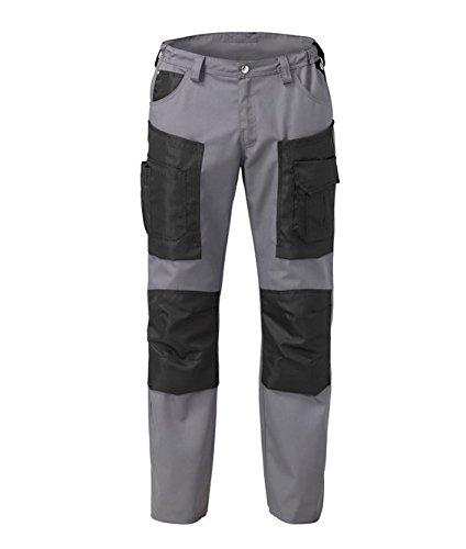 SIGGI - Pantaloni da lavoro 'Hammer' in cotone 60% e poliestere 40%, colori vari. 2 tasche e portatessera. Peso al mq. gr. 240 - Taglia: M - Varianti: nero