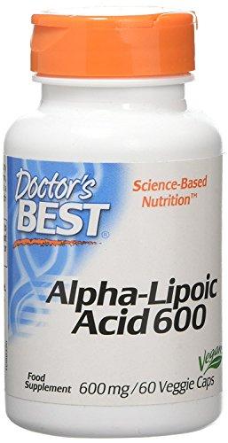 Doctor\'s Best | Alpha-Lipoic Acid (Alpha-Liponsäure) | 2 Tage Dosis | 600mg Depot Wirkung | 60 vegane Kapseln | glutenfrei | sojafrei
