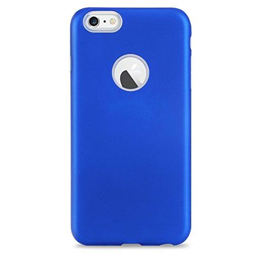 FindaGift iPhone 6 Plus/6s Plus Hülle, Weicher Fall TPU + PC Handycover Hybrid 2 in 1 Case Stoßfest Back Case Schutzhülle Anti-Rutsch Case Ganzkörper-Schutzschale für iPhone 6 Plus / iPhone 6s Plus Sc Blau