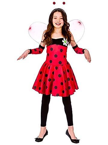 Child 11-13 Years Lovely Ladybug New Fancy Dress Costume Ladybird Book Week Kids
