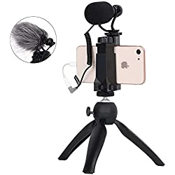 Comica CVM-Vm10-K2 Filmmaker Mini trépied avec Microphone vidéo Shotgun pour iPhone et Android