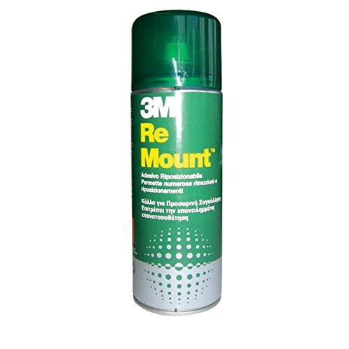 3M Adesivo Spray Re Mount/Bomboletta di Colla Spray, Rimovibile, Trasparente, 400 ml