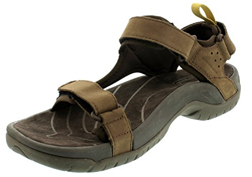 Teva - Sandali sportivi Tanza Leather M's, Uomo, marrone scuro (Braun (brown 556)), 42