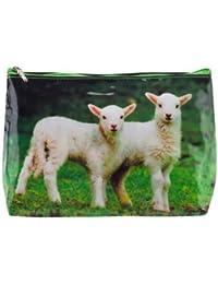 Neceser tigapaw®, bolsa de lavado, cordero, para niños, mujer y hombre, verde (Cordero)