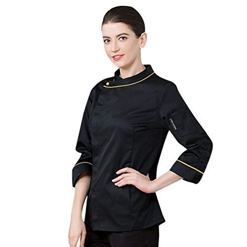 Dooxii unisex donna uomo autunno inverno manica lunga giacca da chef professionale torta di cottura mensa hotel uniformi divise da cuoco