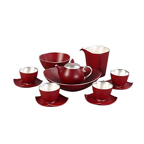 FELICIKK 999 Sterling Silber und Silber Tee-Set nach Hause einfache Moderne handgemachte Silber Tee Tasse Keramik Kung Fu Tee-Set