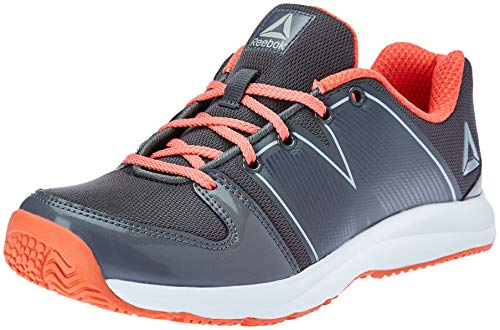 Reebok Women's Cool Traction Xtreme Ash Grey/Fire Coral Running Shoes - 4 UK/India (37 EU) (6.5 US)(CN4329)