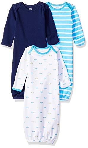 Amazon Essentials Baby-Nachthemd für Jungen, 3 Stück, Boy Car, US 0-6M (EU 56-68)