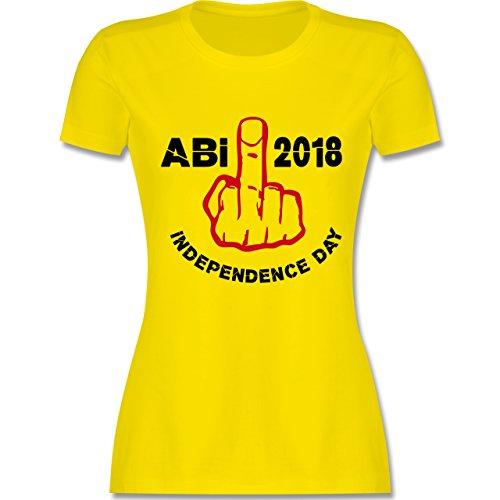 Abi & Abschluss - Independence Day - Abi 2018 - XXL - Lemon Gelb - L191 - Damen T-Shirt Rundhals (T-shirts Independence Day)