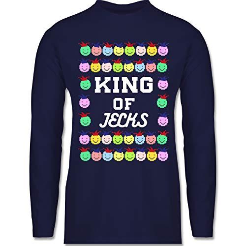 Karneval & Fasching - King of Jecks - S - Navy Blau - BCTU005 - Herren ()
