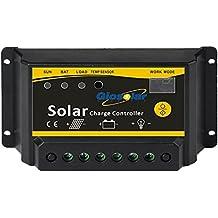 Giosolar Solar controlador de carga 30A 12V/24V Auto regulador de Panel Solar PWM controlador de carga de Panel Solar carga de la batería