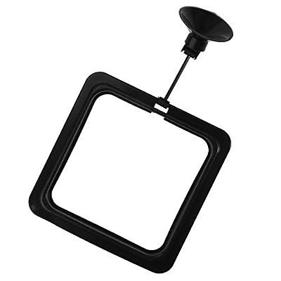 UEETEK Fisch Fütterung Ring mit Saugnapf Quadrat Design für Aquarium Fisch Tank (schwarz)