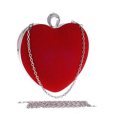 Heart&M Damen Abendtasche Polyester Ganzjährig Hochzeit Veranstaltung Fest Formal Klub Party & Festivität Strass Klammer-Verschluss Schwarz Rote Red