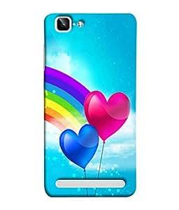 Fuson Designer Back Case Cover for Vivo X5Max :: Vivo X5 Max (Love heart Girl Valentine Indradhanush Two Hearts)