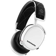 SteelSeries Arctis 7 Cuffie da Gioco, Wireless Senza Perdite, Tecnologia Surround DTS Headphone:X v2.0 per PC e PlayStation 4, Senza Fili, Bianco [Edizione 2019]