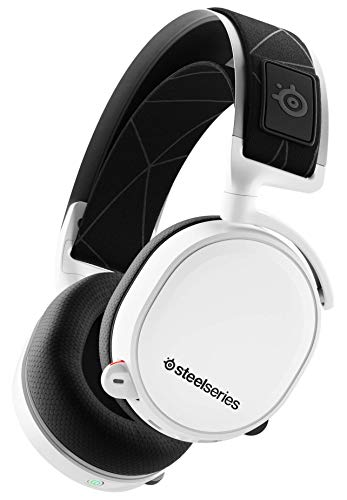SteelSeries Arctis 7 - Gaming Headset - verlustfreies und drahtloses - DTS Headphone:X v2.0 Surround für PC und PlayStation 4 - Weiß [2019 Edition]