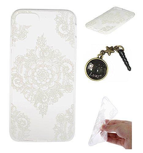 TPU für Smartphone Apple iPhone 7 (4.7 Zoll) Design - Schale Etui Protective Hartschale Backcover Case Schutzhülle Cover in Smartphone Apple iPhone 7 (4.7 Zoll) Stoßdämpfend Design Skin +Staubstecker  1
