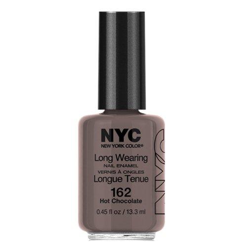 (3 Pack) NYC Long Wearing Nail Enamel - Hot Cholate (Nagellack Top Coat Nyc)