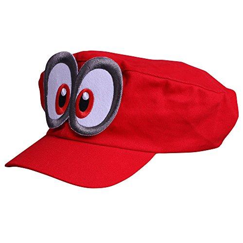 DYSSEY ROT mit Augen für Erwachsene Karneval Fasching Verkleidung Kostüm Mützen Hut Cap Herren Damen Kappe (Coole Kostüme Für Die Halloween-party)