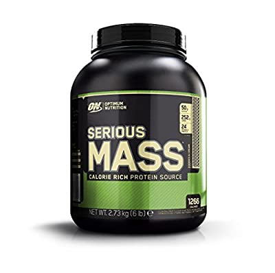 Optimum Nutrition Serious Mass Protein Powder High Calorie Mass Gainer with Vitamins, Creatine and Glutamine, Cookies and Cream, 8 Servings, 2.73 kg from Optimum Nutrition