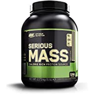 Optimum Nutrition Serious Mass Weight Gainer Whey Protein Powder with Vitamins, Creatine and Glutamine. Protein Shakes by ON - Cookies & Cream, 8 Servings, 2.73kg