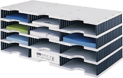 styrodoc Sortierstation trio mit 12 Fächern/268030498 723x331x293mm grau/schwarz -