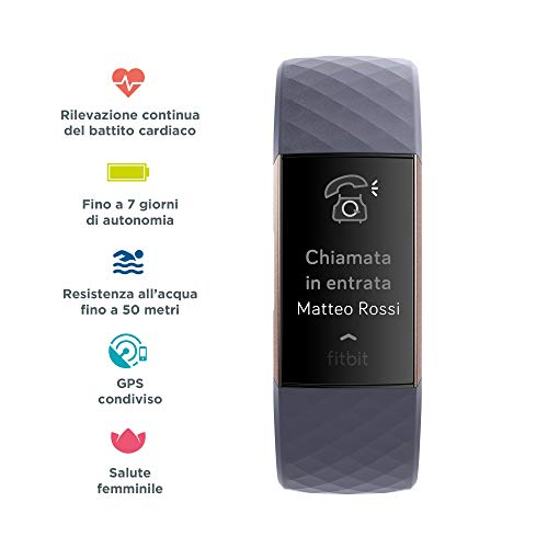 Zoom IMG-1 fitbit charge 3 tracker avanzato