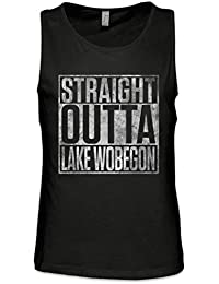 Straight Outta Lake Wobegon Hombre Camiseta Sin Mangas Men Tank Top Tamaños S – 5XL
