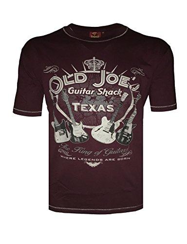 "Metaphor Bedruckte T-Shirt ""Alt Joe´s Gitarre Snack"" größen 2XL bis 6XL, 2 Farben Wein"