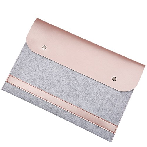 13 In Laptop Sleeve (EooCoo Laptop-Tasche, Filz, Mikrofaser LederHülle Ultrabook Laptop Tasche Filz Sleeve Speziell für Macbook Air / Pro / Retina 13