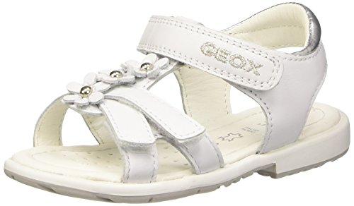 Geox Baby-Mädchen, Erste Schritte Schuhe, B Verred B, Mehrfarbig (Multicolor (White / Silver)), 25