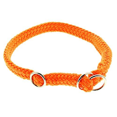 Dinoleine Hunde-Halsband/Stoppwürger, Größenverstellbar, Polyester, Größe: S/ 45 cm, Neonorange, 211116