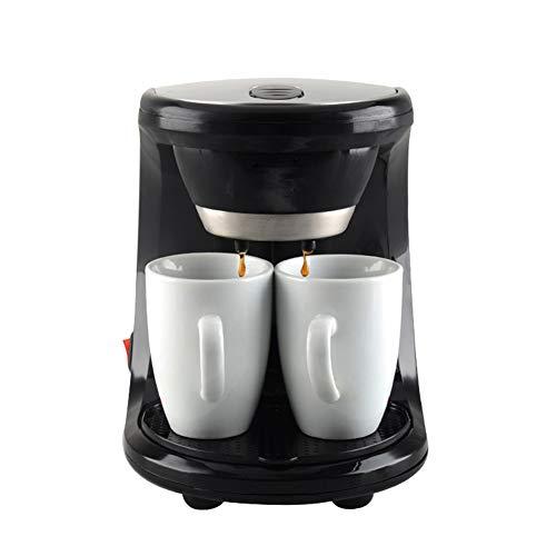 YSCCSY Kaffeemaschine Mini Dual Verwenden Elektrische Automatische Kaffeemaschine 2 Tassen Tropfen Kaffees Tee-Maker Für Home Office Cafe,Black