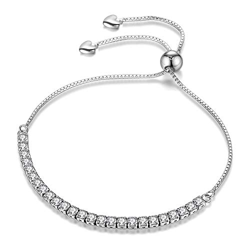 J.Fée Réglable Bracelet Argent Bracelet avec 5A Zircon...
