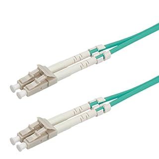 ROLINE Glasfaser-Kabel | LWL-Kabel Patchkabel | 50µ LC / LC OM3 | Aqua 10 m