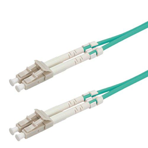ROLINE Glasfaser-Kabel | LWL-Kabel Patchkabel | 50µ LC / LC OM3 | Aqua 2 m -
